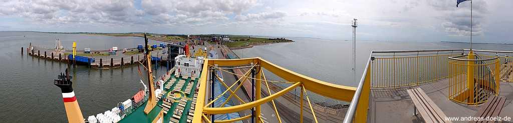 Panorama Dagebüll Fährhafen Amrum
