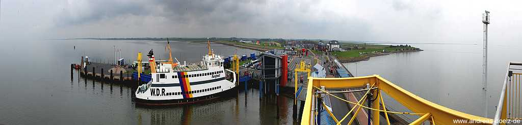 Panorama Dagebüll alte Fährschiffe Amrum