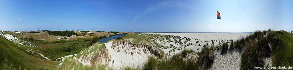 360 Grad Panorama Wriakhörnsee Kniepsand Dünen Amrum
