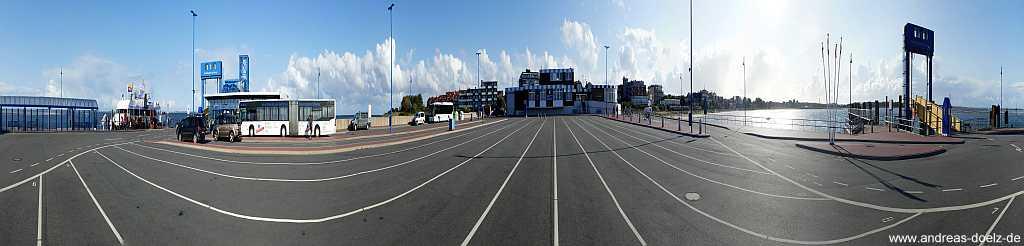 360 Grad Panorama Fähranleger Wittdün Amrum