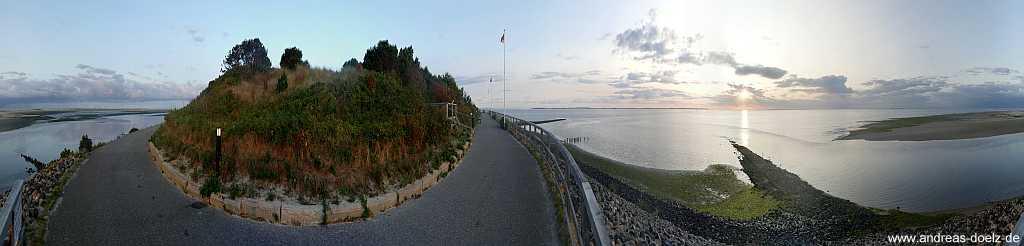 360 Grad Panorama Wittdün Südspitze Morgenstimmung Amrum
