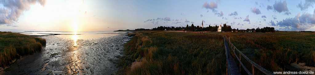 360 Grad Panorama-Bilder Watt-Seite Amrum